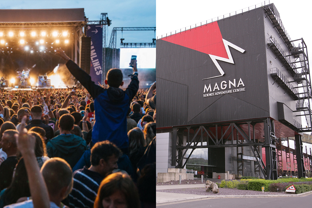 Photos of Tramlines Festival and Magna science adventure centre