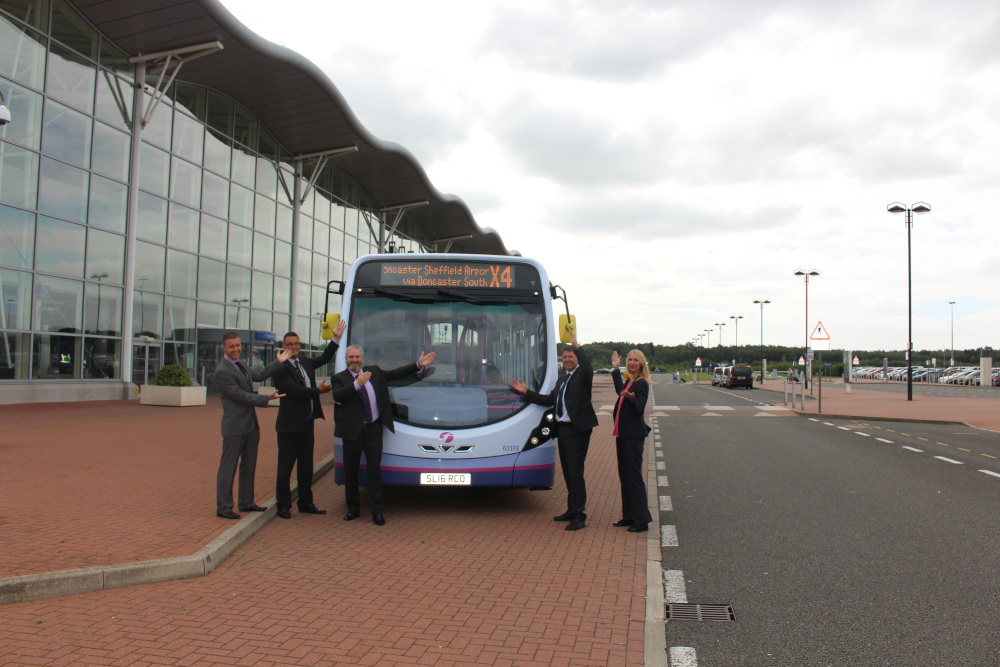 New bus service to Doncaster Sheffield Airport takes off