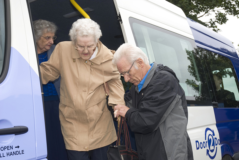 Passenger using Community Transport
