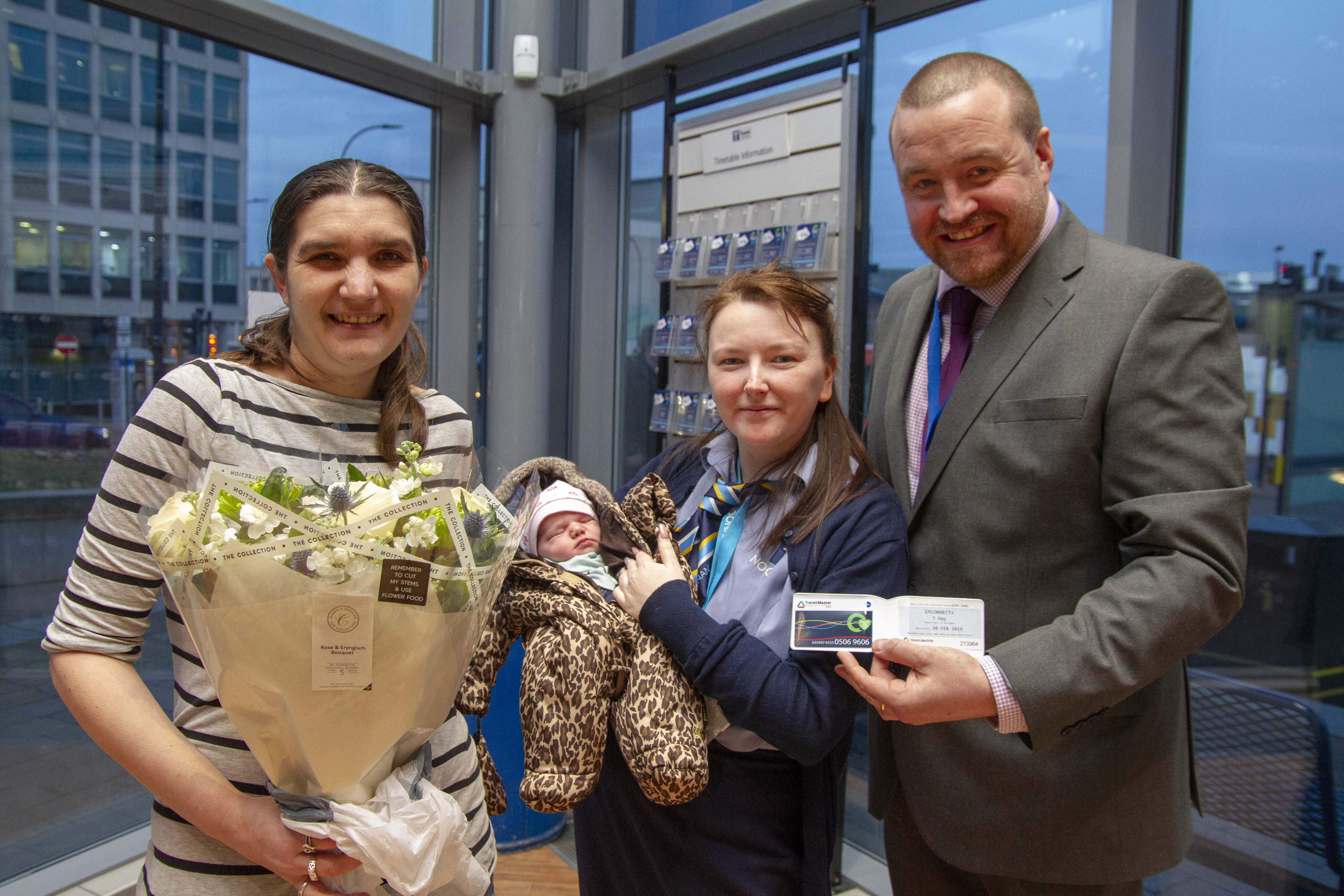 It's a girl! Baby delivered by bus station staff