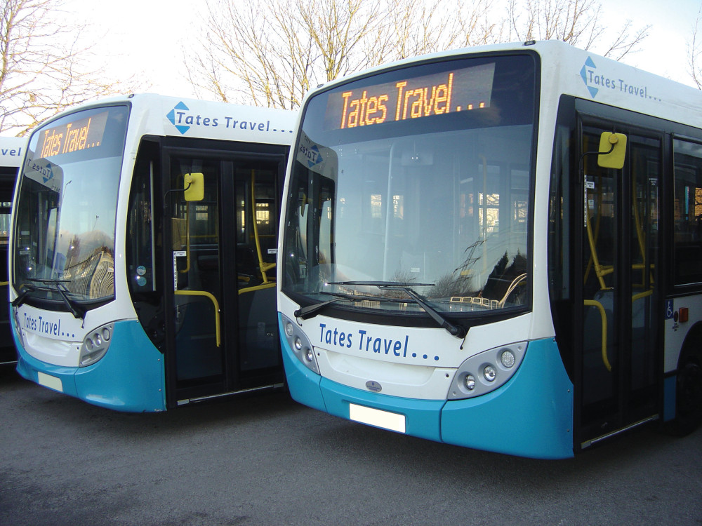 Immediate changes to Tates Travel bus services